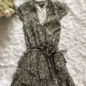 Armani Exchange Snake Print Fit & Flare